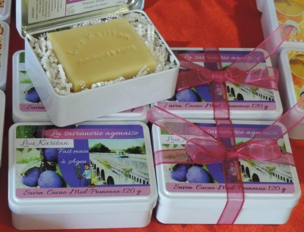 Coffret cadeau savon Cacao-Miel-Pruneaux