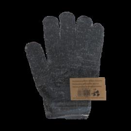 Gants de gommage en fibre de charbon de bambou